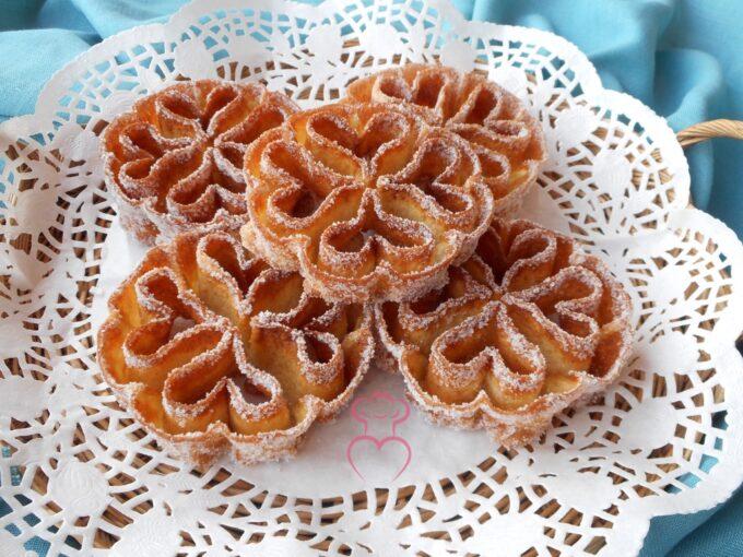 Flores de sartén receta tradicional