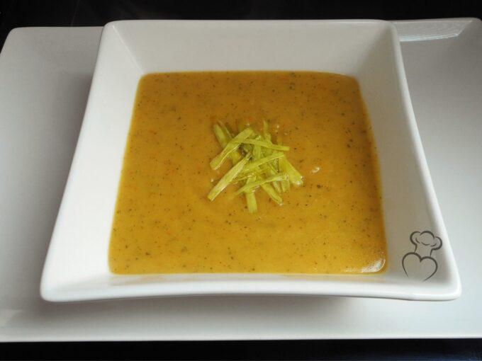Calabacín, puerro y zanahoria en puré