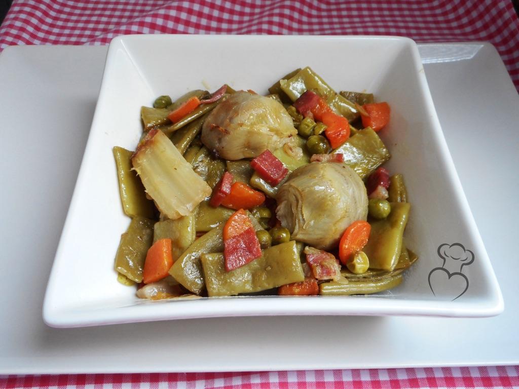 Menestra de verduras salteada mi querida cocinera - Menestra de verduras en texturas ...