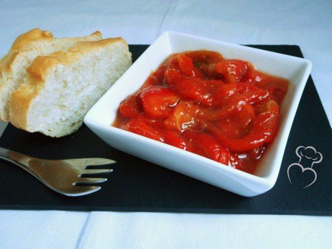 Pimiento asado con vinagreta de comino