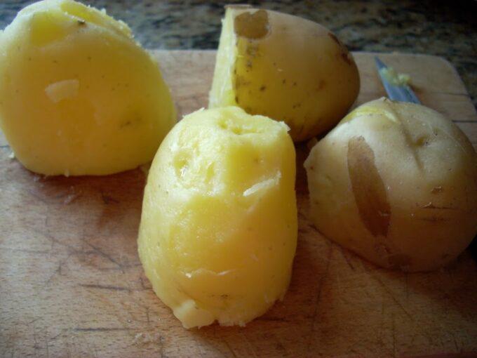 Patatas con vinagreta