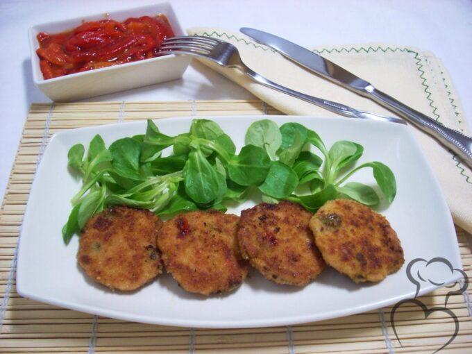 Hamburguesitas de pollo con verduras