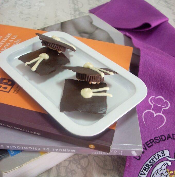 Bombón de chocolate especial graduación