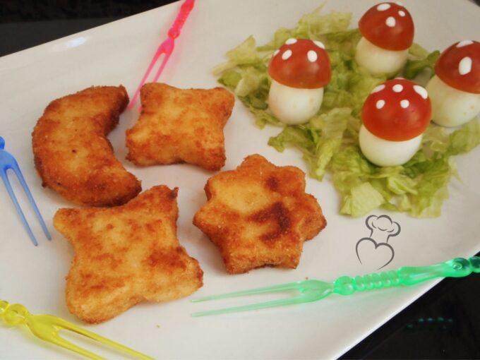 Divertido menú de croquetas y huevos