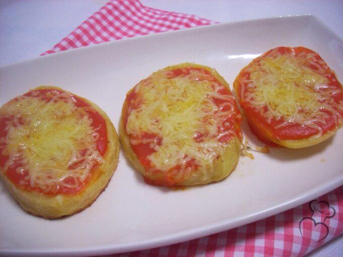 Rodajas de patata estilo pizzeta