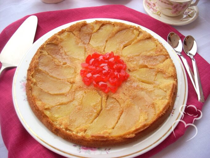 Tarta de manzana dos texturas