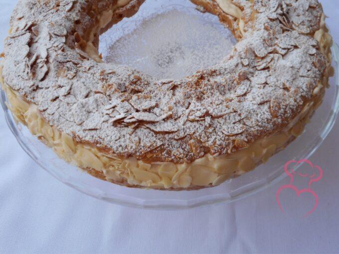 París-Brest pastel de crema francés