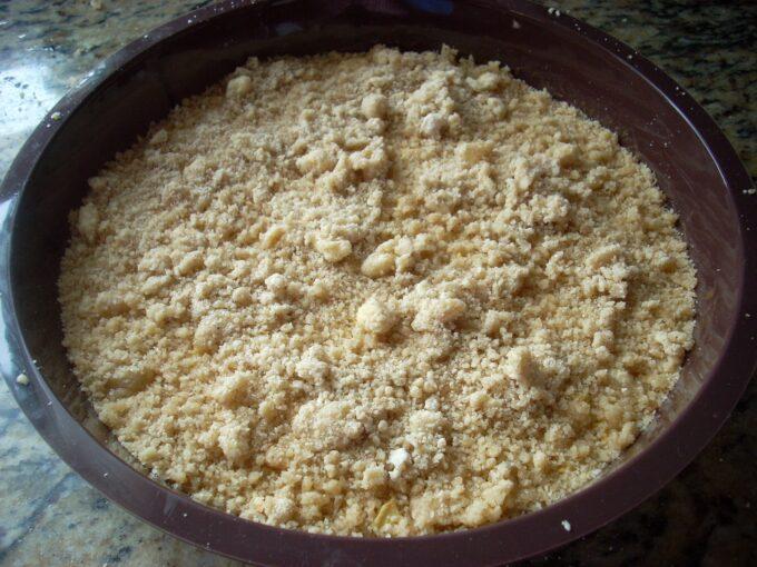 Tarta manzana crumble