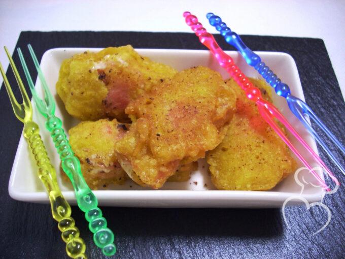 Bocaditos de Jamón y queso tempura