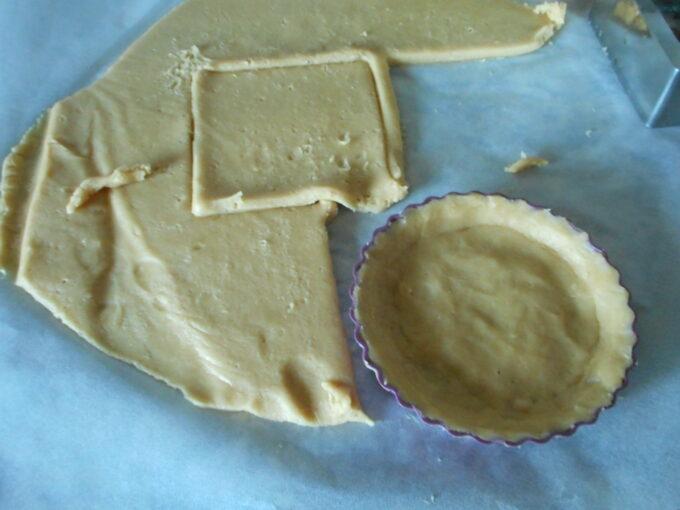 Tartaletas con stracciatella