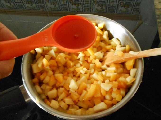 Crema de melocotón y manzana