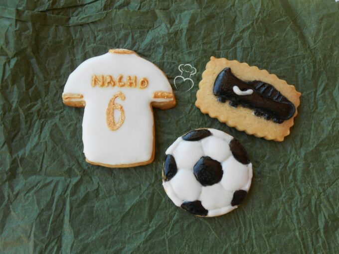 Galletas decoradas de futbol