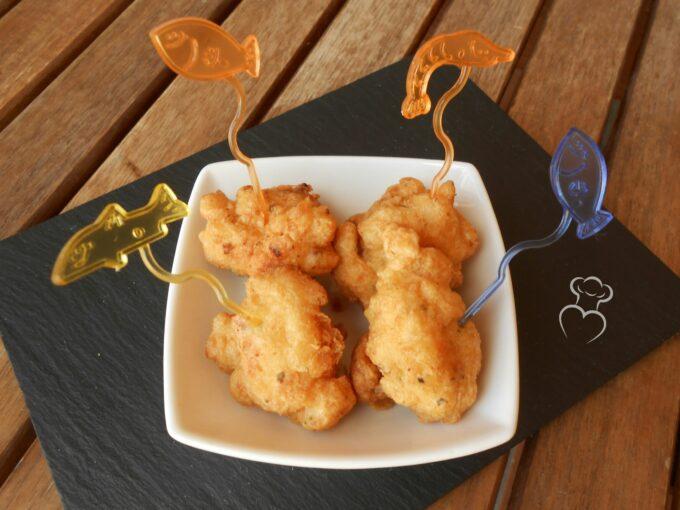 Fritos de bacalao en tempura
