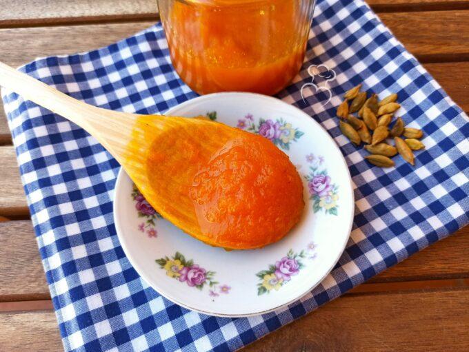 Mermelada de calabaza, naranja y cardamomo