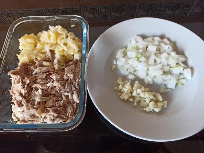 Rosquillas de pollo y patata