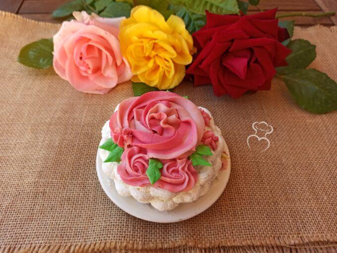 Tarta de flores con mousseline